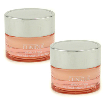 Clinique All About Eyes Duo Pack ( Travel Size ) 2x7ml/0.21oz