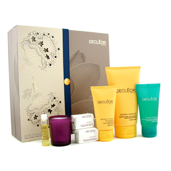 Decleor Bath Ritual Coffret: Body Milk + Bath Gel + Body Cream + Body Serum + 2x Bath Pebbles + Candle 7pcs