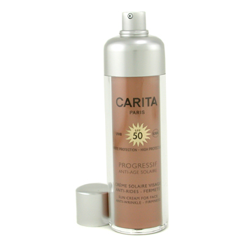 buy Carita Progressif Anti-Age Solaire Sun Cream for Face SPF 50 3657 50ml/1.69oz  skin care shop