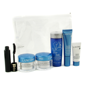 buy Lancome Blanc Expert Travel Set: Cream + Night Cream + Eye Serum + Spot Eraser + Mascara 6pcs  skin care shop