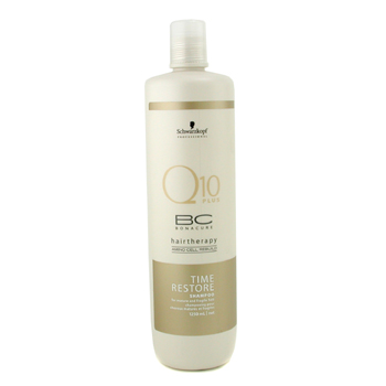 buy Schwarzkopf BC Time Resotre Q10 Shampoo (For Mature & Fragile Hair) 1250ml/41.67oz by Schwarzkopf skin care shop