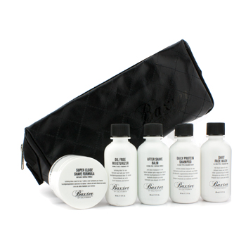 buy Baxter Of California Travel Kit: Face Wash + Shave Formula + Moisturizer + Shave Balm + Shampoo + 2x Cleansing Bar + Bag 7pcs+1bag  skin care shop