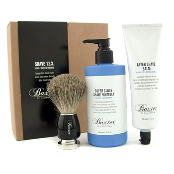 buy Baxter Of California Shave 1.2.3 Set: Shave Formula + Balm + Brush 3pcs  skin care shop