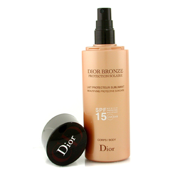 buy Christian Dior Dior Bronze Lait Sublimant Beautifying Protective Suncare SPF15 200ml/6.7oz skin care shop