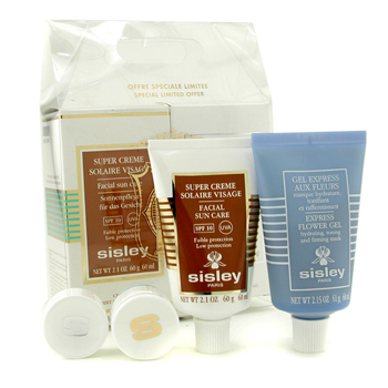 buy Sisley Face Solar Kit: Express Flower Gel + Facial Sun Care SPF 10 2pcs  skin care shop