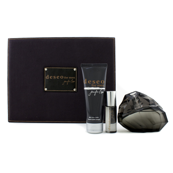 J. Lo Deseo For Men Coffret: Eau De Toilette Spray, Aftershave Balm, Eau De Toilette Spray
