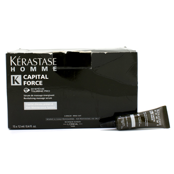 buy Kerastase Homme Capital Force Revitalising Massage Rinse-Out Serum (Box Slightly Damaged) 15x12ml/0.4oz by Kerastase skin care shop