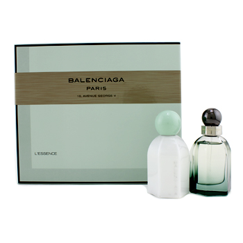Balenciaga L`Essence Coffret:Eau De Parfum Spray 50ml/1.7oz + Perfumed Body Lotion 100ml/3.4oz 2pcs
