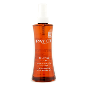 buy Payot Benefice Soleil Anti-Aging Protective Oil SPF 15 125ml/4.2oz  skin care shop