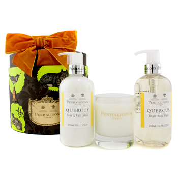 buy Penhaligon's Quercus Home Collection: Hand Wash 300ml/10.1oz + Hand & Nail Lotion 300ml/10.1oz + Classic Candle 140g/4.9oz 3pcs  skin care shop