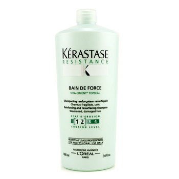 buy Kerastase Resistance Bain De Force Reinforcing And Resurfacing Shampoo (Weakened  Damaged Hair) 1000ml/34oz by Kerastase skin care shop