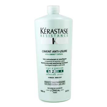 buy Kerastase Resistance Ciment Anti-Usure Reinforcing And Resurfacing Treatment (For Damaged Lengths & Ends) 1000ml/34oz by Kerastase skin care shop