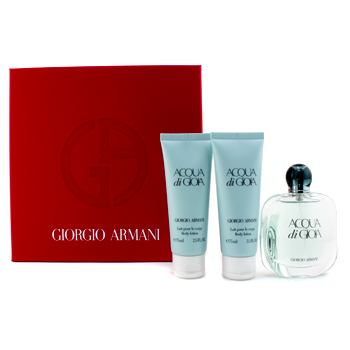 buy Giorgio Armani Acqua Di Gioia Coffret: Eau De Parfum Spray 50ml/1.7oz + 2x Body Lotion 75ml/2.5oz 3pcs  skin care shop