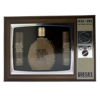 buy Diesel Fuel For Life Homme Coffret: Eau De Toilette Spray 50ml + Shower Gel 50ml + After Shave Balm 50ml 3pcs  skin care shop