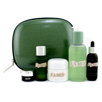 buy La Mer The Regenerating Collection: Cleansing Gel + Creme de La Mer + Hydrating Infusion + Regenerating Serum + Eye Concentrate + Bag 5pcs+1bag  skin care shop