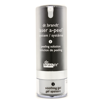 buy Dr. Brandt Laser A-Peel System: Peeling Solution 1.7oz + Soothing Gel 1oz 50g+30g skin care shop