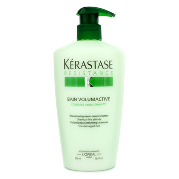 buy Kerastase Resistance Bain Volumactive Volumising Reinforcing Shampoo (For Fine Damaged Hair) 500ml/16.9oz by Kerastase skin care shop