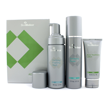 buy Skin Medica Acne System: Foaming Wash 147.9ml l+ Toner 177.44ml+ Lotion 56.7g (Exp. Date 07/2012) 3pcs skin care shop